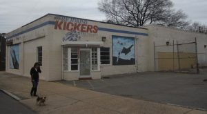 The old Kickers building