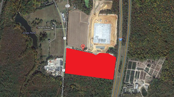 Republic National Distributing is planning to build an expanded distribution facility in Hanover County. (Via Google Earth)