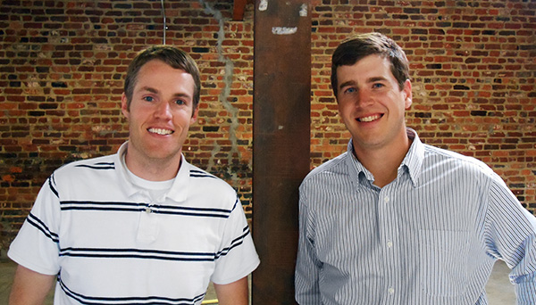 Triple Crossing Brewing founders Adam Worcester, left, and Scott Jones. (Photos by Burl Rolett)
