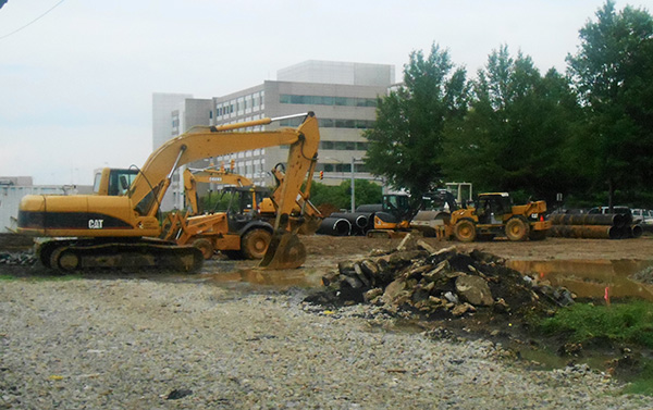 The work site at 1200 Semmes Ave. in Manchester. (Photo by Burl Rolett)