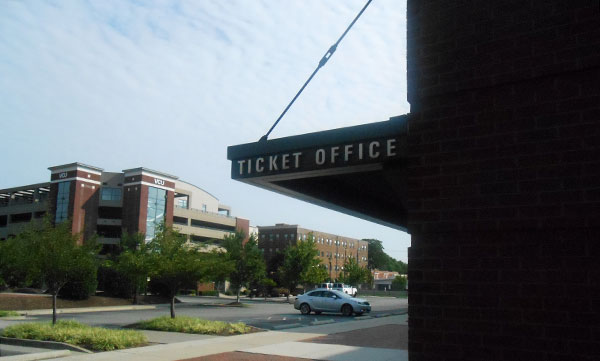 The ticket office at VCU's Seigel Center. (Photo by Burl Rolett)