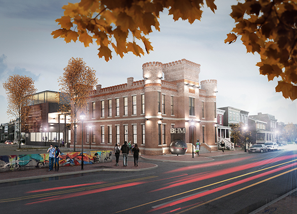 A rendering of the Black History Museum and Cultural Center, which is slated to open in 2015. (Courtesy of the Black History Museum)