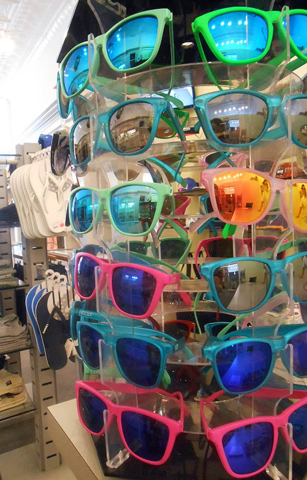 Nectar sunglasses at West Coast Kix. (Photo by Burl Rolett)