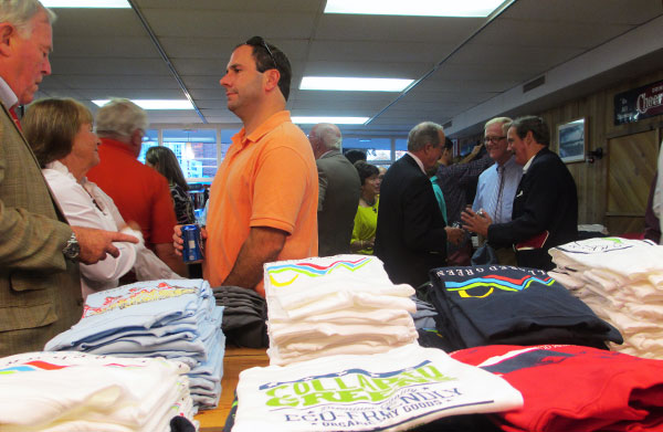 Guests mingle at the grand opening of the Collered Greens store. (Photos by Michael Thompson)