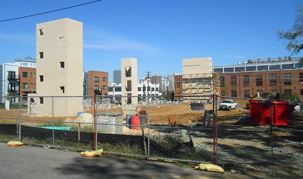 The construction site at 908 Perry St.
