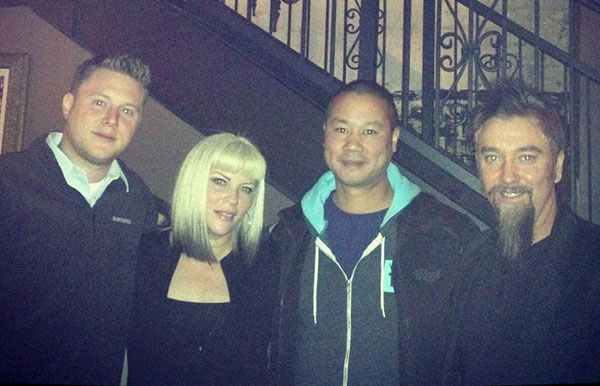 Don Welch, left, Melissa Black, Tony Hsieh and Scott Black. (Photo courtesy of Scott Black)
