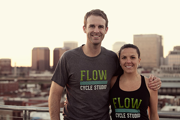Ja Jones, left, and Erin Jones are opening Flow Cycle Studio. (Photo courtesy of Flow)