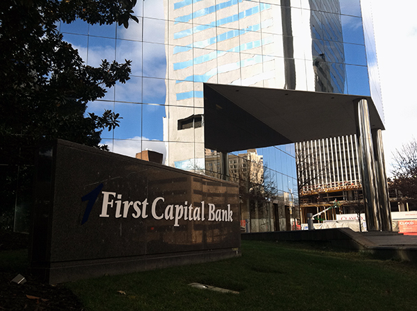First Capital Bank's downtown branch at 901 E. Cary. (Photo by Michael Schwartz)