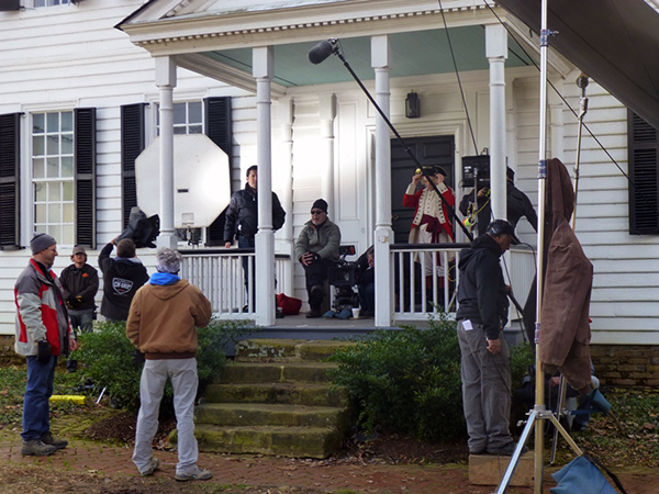 """Turn"" films at Shirley Plantation in Charles City. (Photo by Antony Platt/AMC)"