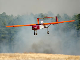 A SPAARO aircraft designed and built by Virginia Tech flying at our Kentland Farms facility near Blacksburg, Virginia.