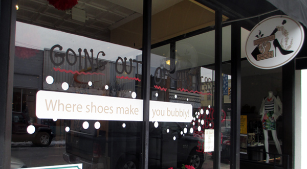 Carytown retailer Champagne & Shoes is having its going out of business sale. (Photo by Michael Thompson)