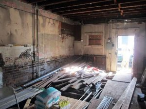 The building that housed a general store in the late 1800s will be renovated as a three-bedroom home. Photo by Brandy Brubaker.