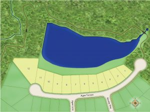 Eleven homes will back up to a man-made lake.