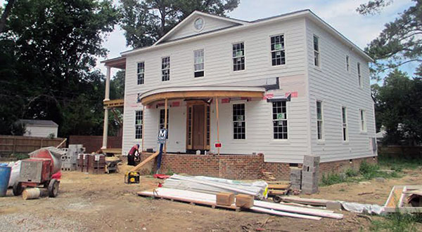 The home at 366 Albermarle Ave. is under construction by Mitchell Homes. Photo by Brandy Brubaker.