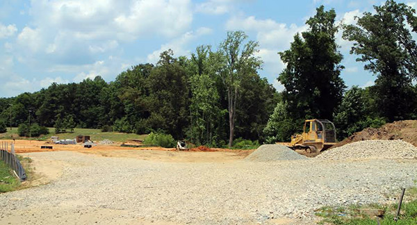 CraftStyle has cleared land for the final phase of the Villas at Rose Hill development. Photo by Brandy Brubaker.