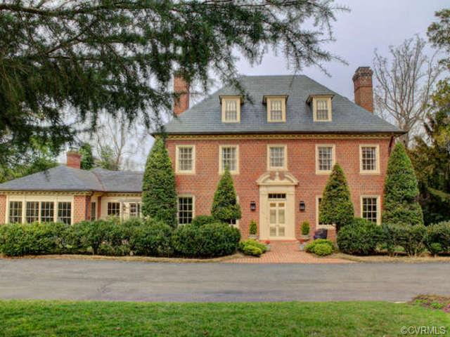 The six-bedroom, six-bathroom home sits off Cary Street Road in Richmond.