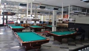 Greenleaf's has 13 pool tables brought from a shut-down Chicago pool hall.