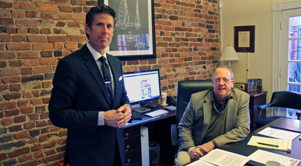 Stephen Loderick (left) and Tim Nasworthy have launched a 401k planning firm. Photos by Michael Thompson.
