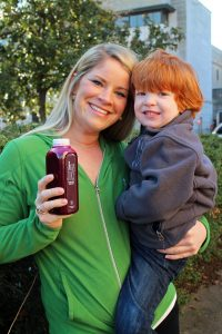 Erin Powell with her son Sayer