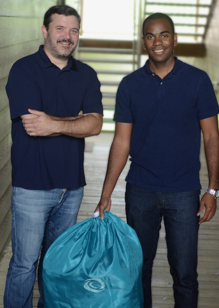 Jeremy DiMaio (left) and Samuel Anderson are launching a new laundry service in Richmond. Photo by Shane Patrick Crews.