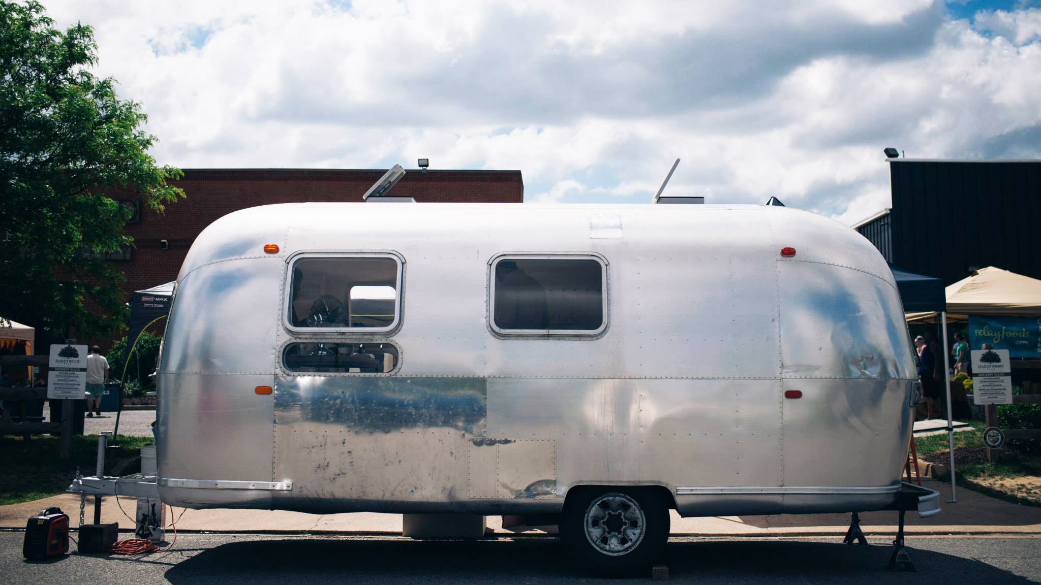 Retail startup Love This uses a refurbished Airstream camper as its  storefront. Photos by Casey