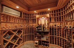 The home has a large wine cellar.