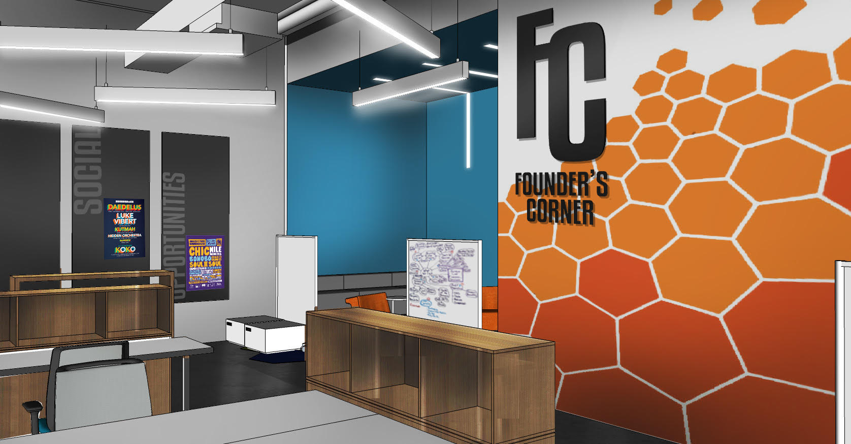 Vcu jumps in on co working trend richmond bizsense Shared office space design
