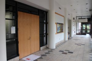 A former storage space in the university commons building will house the space. Photo by Michael Thompson.