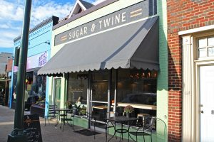 Sugar & Twine sits on the same block as the Byrd Theatre.