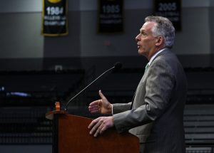 Gov. Terry McAuliffe speaks at the event.