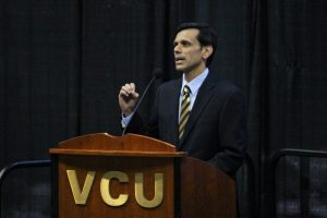 VCU President Michael Rao addresses the audience.
