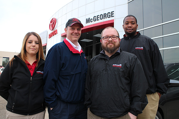 The McGeorge @ Home team, from left: Alexanne Rahimi, Whit Bryant, Chris McDonald and Courtney Taylor.