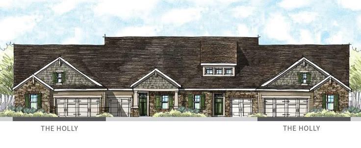 Renderings of some of the homes in FoxCreek's new section