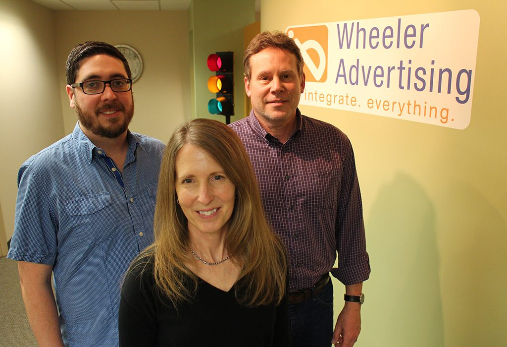 Luanne Stamp is heading up the local office with producer Jared Olguin, left, and creative director David Dohmann.