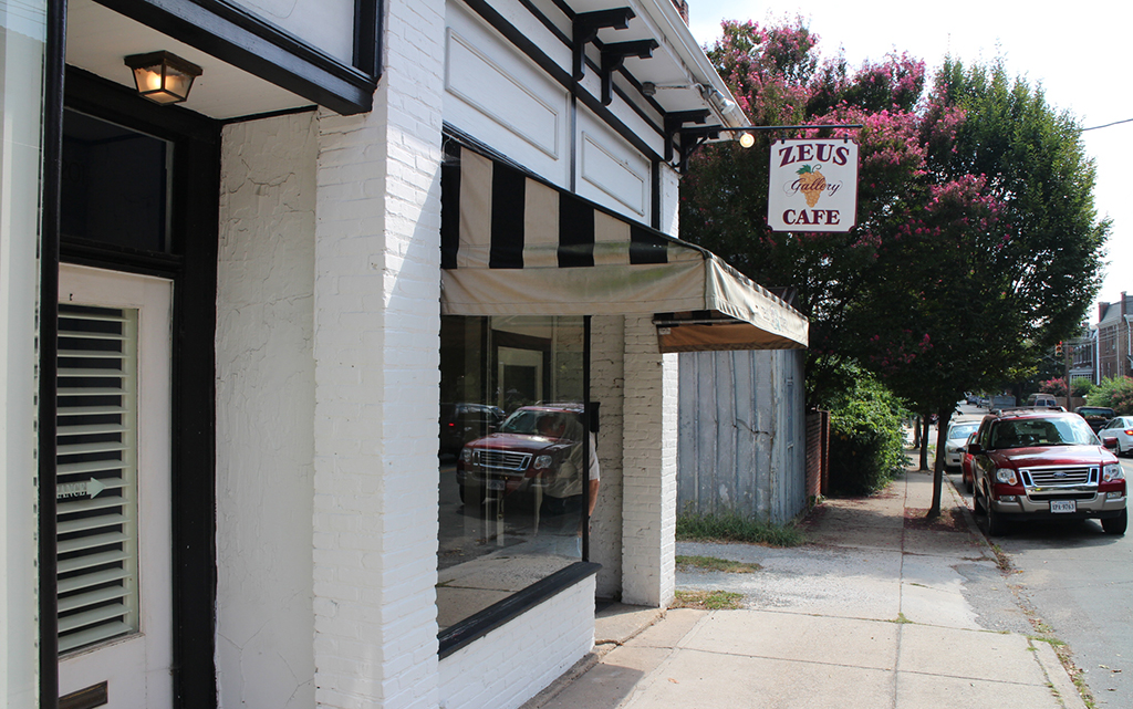 The former Zeus Gallery Cafe at 201 N. Belmont Ave. has been sold. (J. Elias O'Neal)