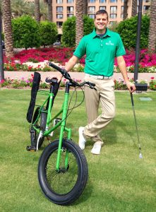 Todd May, the owner of Higher Ground Golf and inventor of the Golf Bike. (Courtesy Higher Ground Golf)