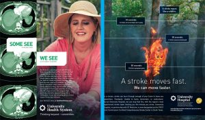 The Martin Agency created a stroke awareness campaign for UHS.