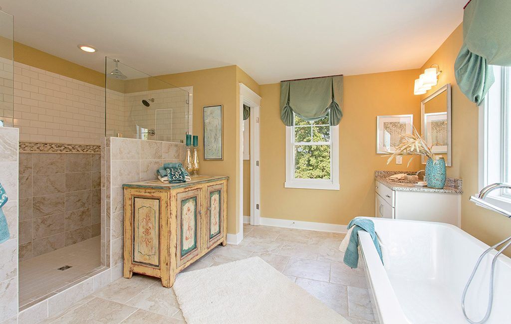 LifeStyle Home Builders' entry in Henrico's Holloway at Wyndham Forest won best bath and a silver award in the $650,000-$700,000 furnished category. (Courtesy LifeStyle Home Builders)
