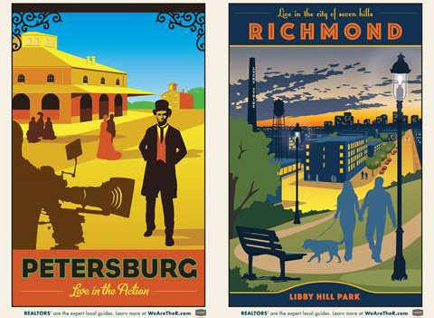 "The Central Virginia Regional Multiple Listing Service's posters, developed with Punch, for its ""RVA Guides"" promotional series."