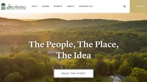 Mobelux launched a new website for James Madison's Montpelier.