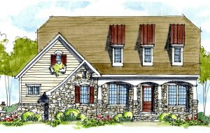 A proposed Burleigh home. (Courtesy Bel Arbor Builders)