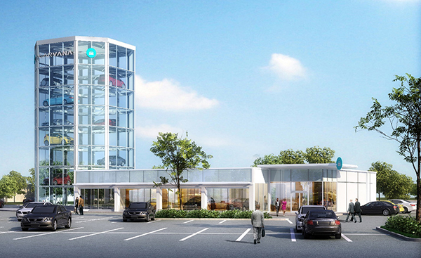 A Rendering Of The Proposed Carvana Tower In Short Pump