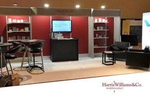 Marketing firm Think completed a comprehensive trade show presentation for Harris Williams & Co.