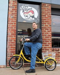 Robert Stout launched The Dog Wagon as a food truck about four years ago. (J. Elias O'Neal)