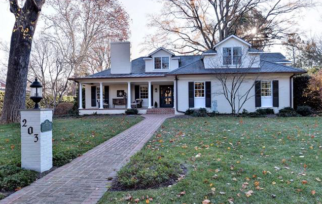 The 5,600-square-foot colonial-revival house was listed for $1.75 million. (Courtesy CVRMLS)