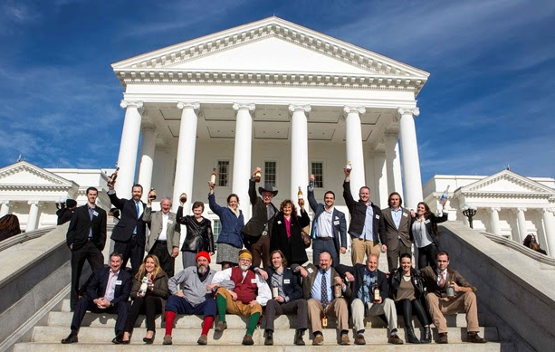 Members of the VDA and Virginia legislators celebrated the bills passing through the General Assembly earlier this year. (Jay Paul Photography)