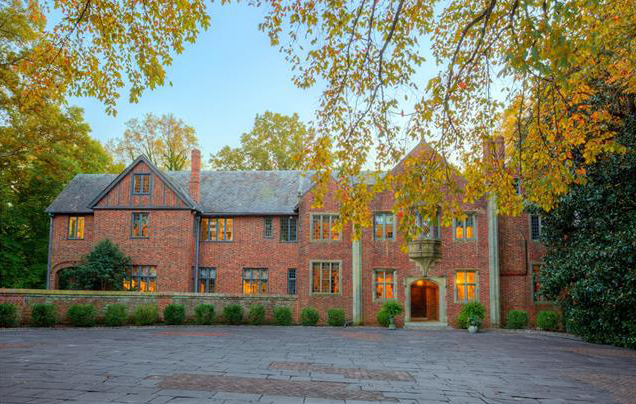 The 14,400-square-foot Tudor Revival-style mansion at 4603 Sulgrave Road in Windsor Farms. (Courtesy CVRMLS)