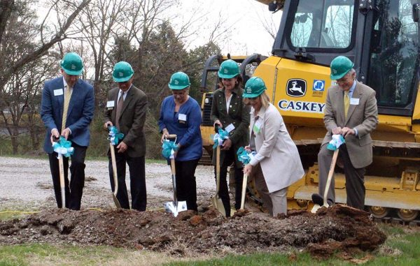 GFCFS executives and board members ceremonially break ground on the new facility. (Mike Platania)
