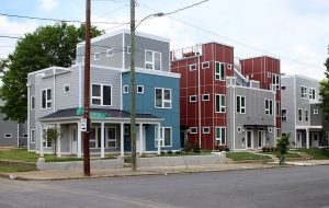 Urban Development built similar townhome duplexes nearby on Perry Street. (J. Elias O'Neal)