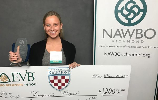 Virginia Myers, a junior, was awarded for a food-finding app and a profitable Instagram account. (Courtesy Virginia Myers)